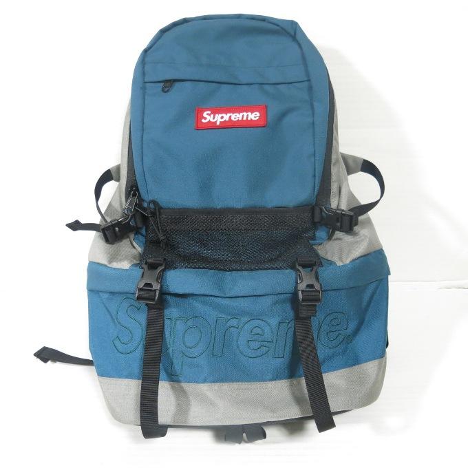 SUPREME 15AW Contour Backpack シュプリーム コントゥア バックパック ブラック/グレー/ブルー【中古】【カバン】【四日市 併売品】【137-181017-04USH】
