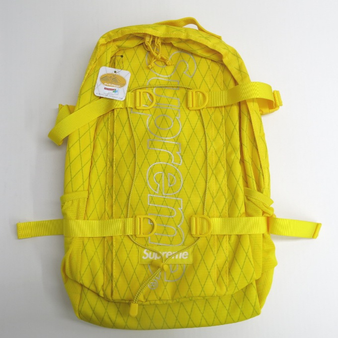 SUPREME 18AW Backpack シュプリーム バックパック イエロー【中古】【カバン】【四日市 併売品】【137-190102-04USH】