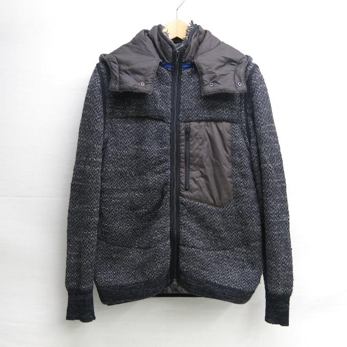 sacai(サカイ) ダウンジャケット 11-00180M ブラック/ネイビー サイズ:1【中古】【DM】【四日市 併売品】【125-190222-04USH】