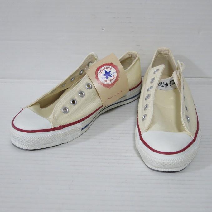 CONVERSE 90s ALL STAR LOW M9165 UNBLEACHED WHITE コンバース オールスター ロウ アブリチャードホワイト サイズ:26.5cm【中古】【スニーカー】【四日市 併売品】【139-190301-01USH】