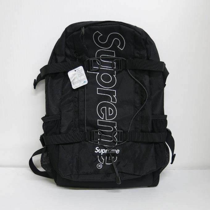 SUPREME 18AW Backpack シュプリーム バックパック ブラック【中古】【カバン】【四日市 併売品】【137-190415-07USH】