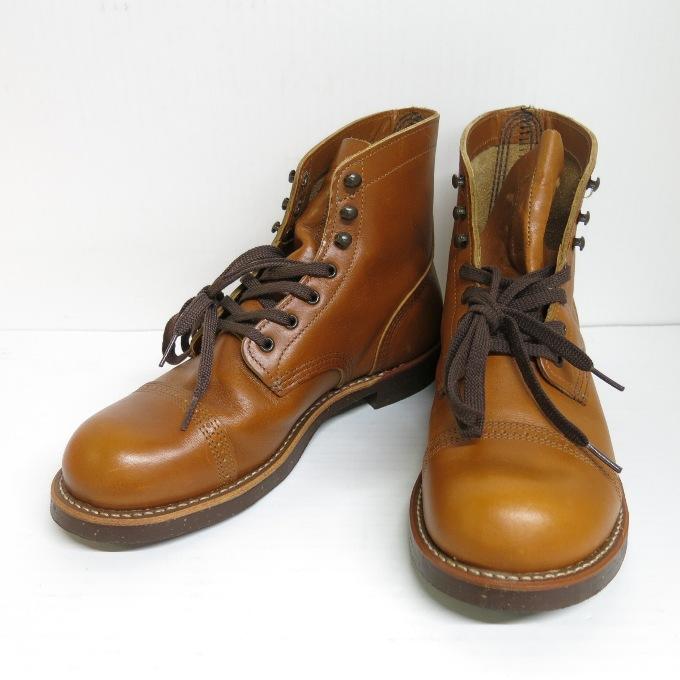 REDWING 8011 Iron Range Munson レッドウィング アイアン レンジ マンソン ホワイト アッシュ サイズ:8D(26cm)【中古】【その他靴】【四日市 併売品】【140-190521-02USH】