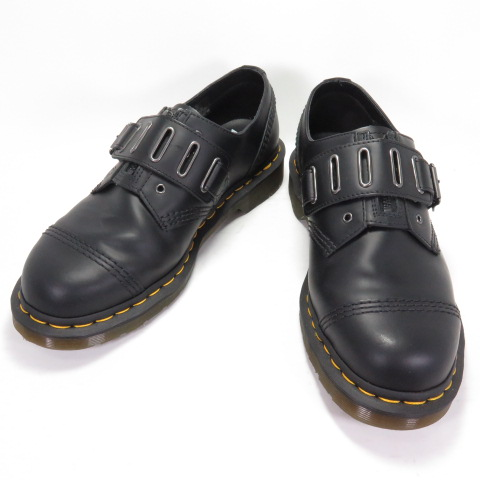 送料無料 人気 Dr.Martens 25603001 バースデー 記念日 ギフト 贈物 お勧め 通販 ドクターマーチン QUYNN LOW 4EYE ベルトシューズ 四日市 ブラック UK9.0 28cm 併売品 その他靴 140 初売り 中古 140-210315-02OH