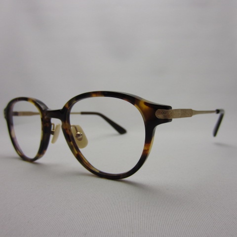 ayame アヤメ CROWN クラウン DM(デミ) ベッコウ べっ甲 眼鏡 メガネ  クリアレンズ 伊達眼鏡 【中古】【142 サングラス】【四日市 併売品】【142-200315-14OH】