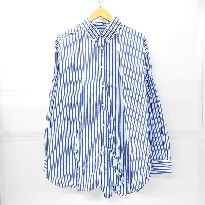 期間限定送料無料 送料無料 人気ブランド WILLY CHAVARRIA ウィリーチャバリア 18SS DRESS SHIRT ドレスシャツ サイズ:M 中古 四日市 ブルーストライプ DM 125 新発売 併売品 125-200228-14YH