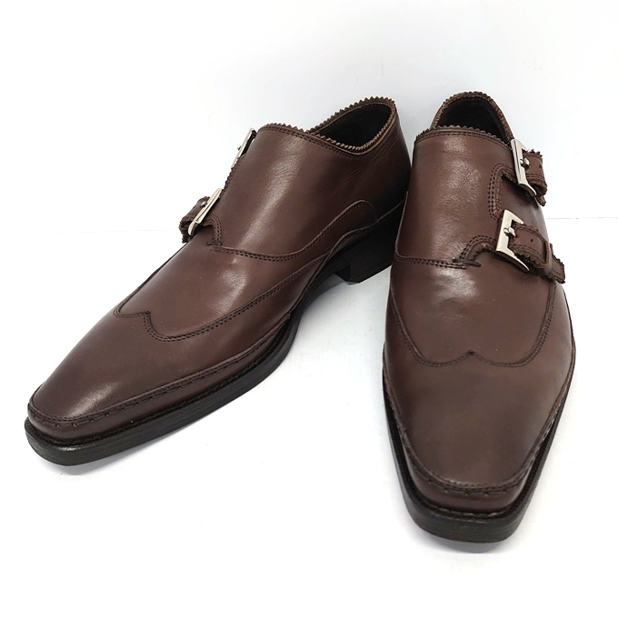 Paul Smith(ポールスミス) ダブルモンクストラップ シューズ ブラウン系 サイズ:42(約27cm)【中古】【140 その他靴】【四日市 併売品】【140-200311-05USH】
