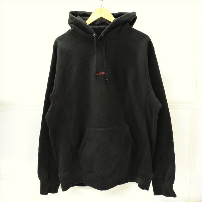 Supreme(シュプリーム) 18aw Trademark Hooded Sweatshirt トレードマーク パーカー ブラック サイズ:XL【中古】【126 ストリート】【四日市 併売品】【126-200315-01YH】