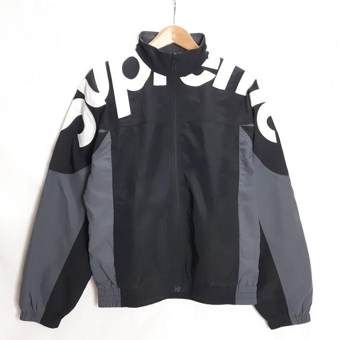 Supreme(シュプリーム) 19AW Shoulder Logo Track Jacket ショルダー ロゴ トラック ジャケット ブラック サイズ:M【中古】【126 ストリート】【四日市 併売品】【126-200417-03YH】