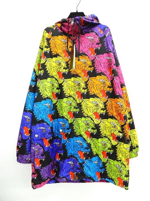 GUCCI(グッチ) 18AW Panther Face Nylon Jakcet 526426 windbreaker zip up coat パンサーフェイス ナイロンジャケット マルチカラー サイズ:48【中古】【122 インポート】【四日市 併売品】【122-200505-06YH】