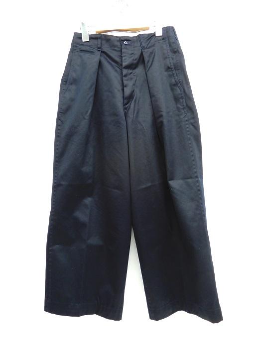 送料無料 人気ブランド MARKAWARE マーカウェア 41 WIDE PANTS ワイドパンツ 125-200505-09YH DM 中古 四日市 ネイビー 海外輸入 125 年間定番 併売品 サイズ:1