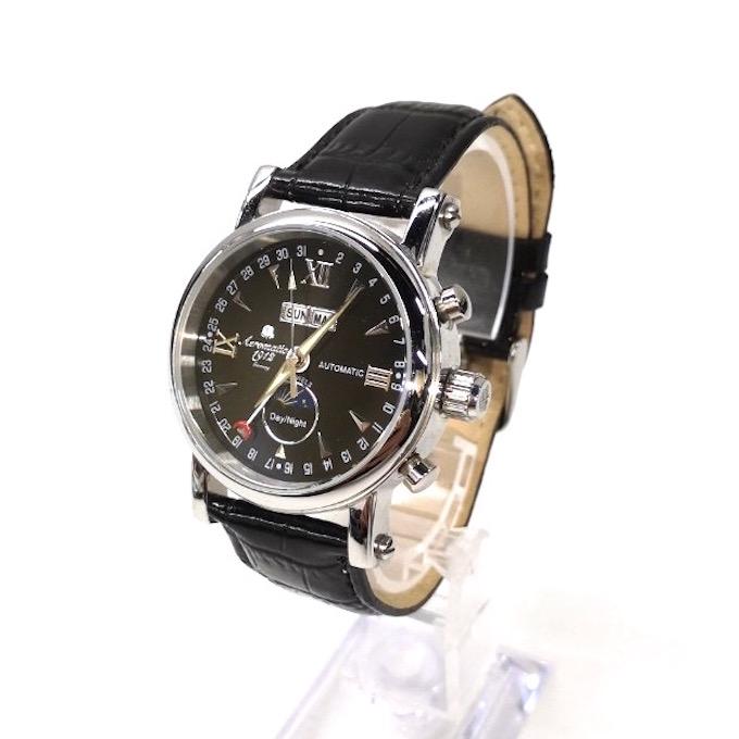 送料無料でお届けします 送料無料 ドイツブランド Aeromatic1912 エアロマティック 自動巻き 腕時計 メンズ パイロットウォッチ 中古 ブラックA1032 四日市 時計 デイナイト サンムーン 蔵 併売品 141-200502-11fH