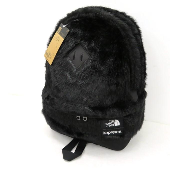 送料無料 2020AW コラボアイテム SUPREME×THE NORTH FACE 20AW Faux Fur 半額 Backpack シュプリーム×ノースフェイス フェイク 137-210630-04USH NM82092I お気に入り ファー 中古 ブラック サイズ:20L バックパック 四日市 137 カバン 併売品