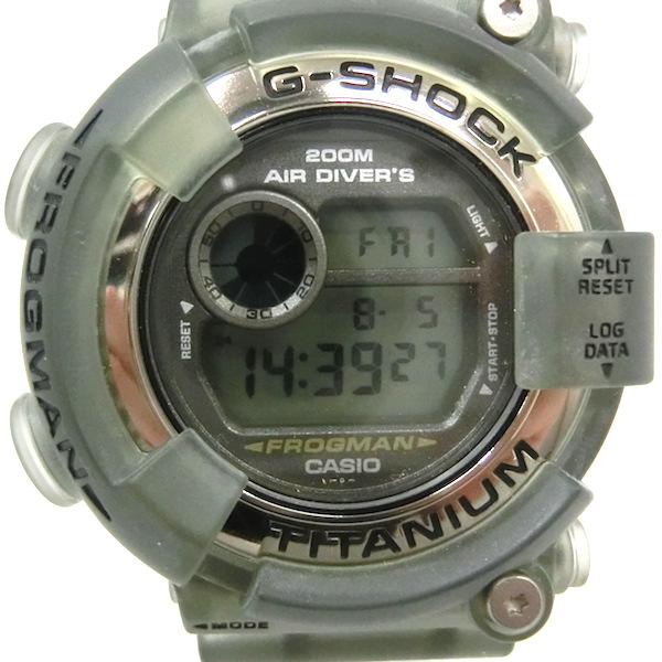 CASIO G-SHOCK MENIN SHOKE DW 8200MS カシオ ジーショック クォーツ クリアグレー【中古】【時計】【日永 併売品】【1410088UN】