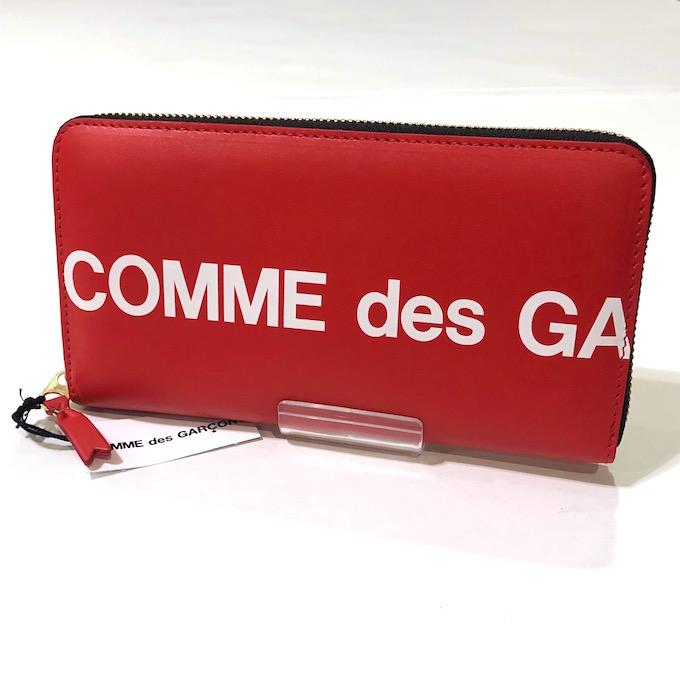 COMME des GARCONS Huge Logo WALLET SA0111HL コムデギャルソン ロゴラウンドジップウォレット 【中古】【財布】【四日市 併売品】【138-190829-11GH】