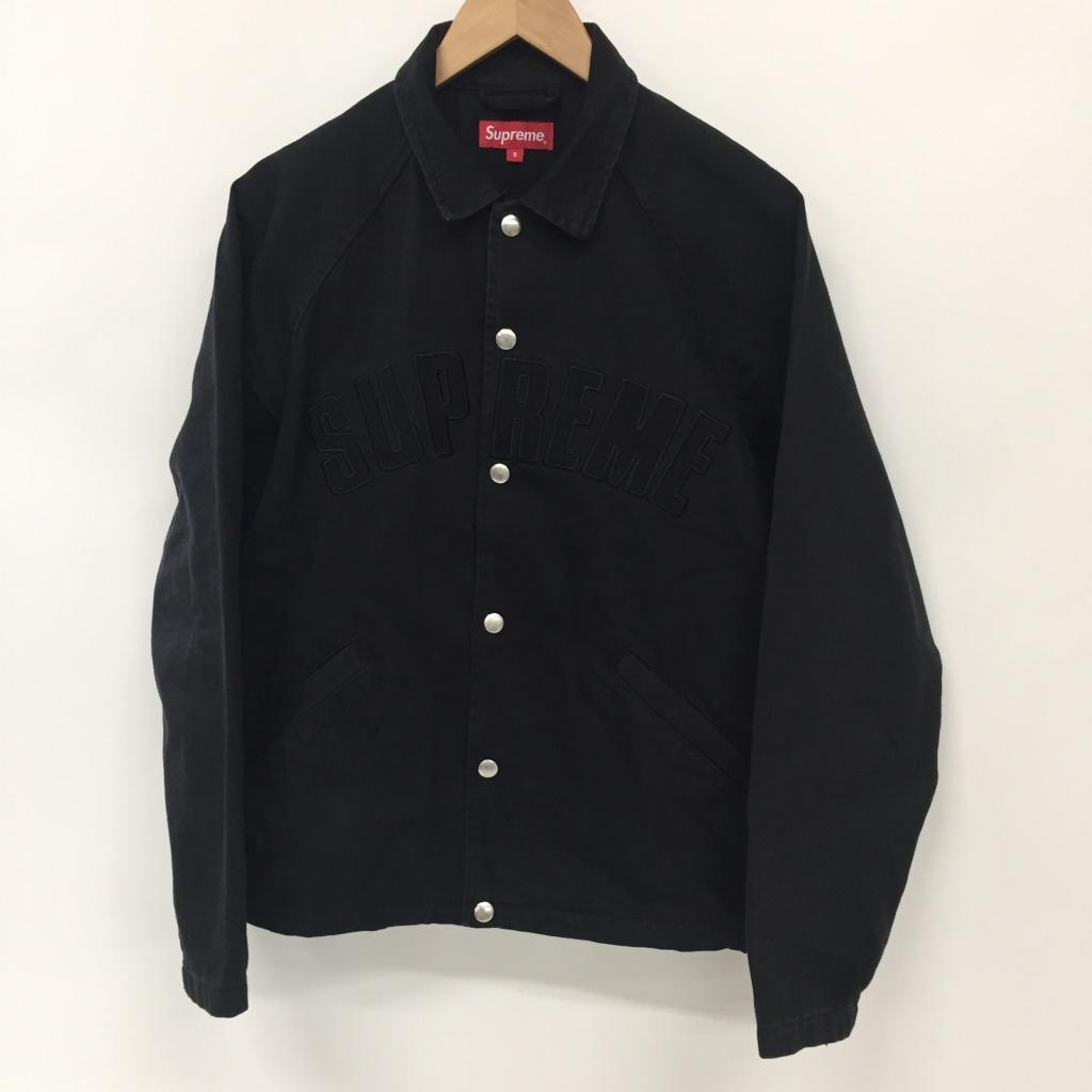 Supreme(シュプリーム) 18AW Snap Front Twill Jacket サイズ:S カラー:ブラック【中古】【126 ストリート】【鈴鹿 併売品】【126-200302-02NS】