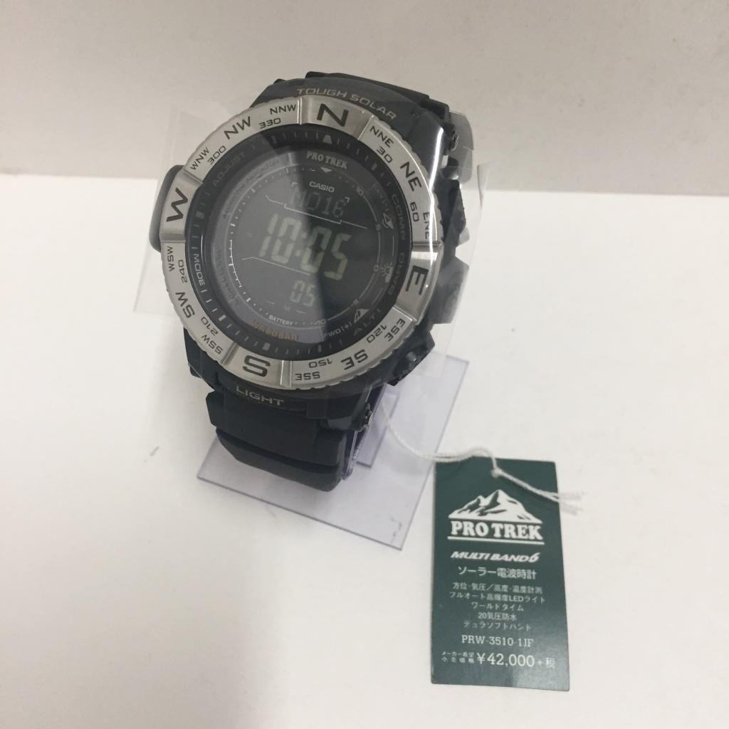 CASIO(カシオ) PRW-3510-1JF  PRO TREK(プロトレック) カラー:ブラック【中古】【141 時計】【鈴鹿 併売品】【141-200311-03NS】