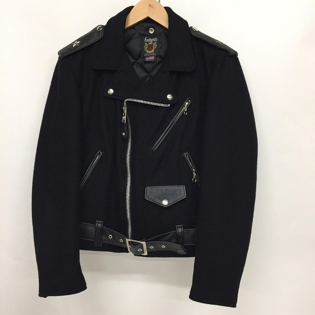 Schott(ショット) ダブルライダースジャケット サイズ:38 カラー:Black【中古】【128 アメカジ】【鈴鹿 併売品】【128-190430-01NS】