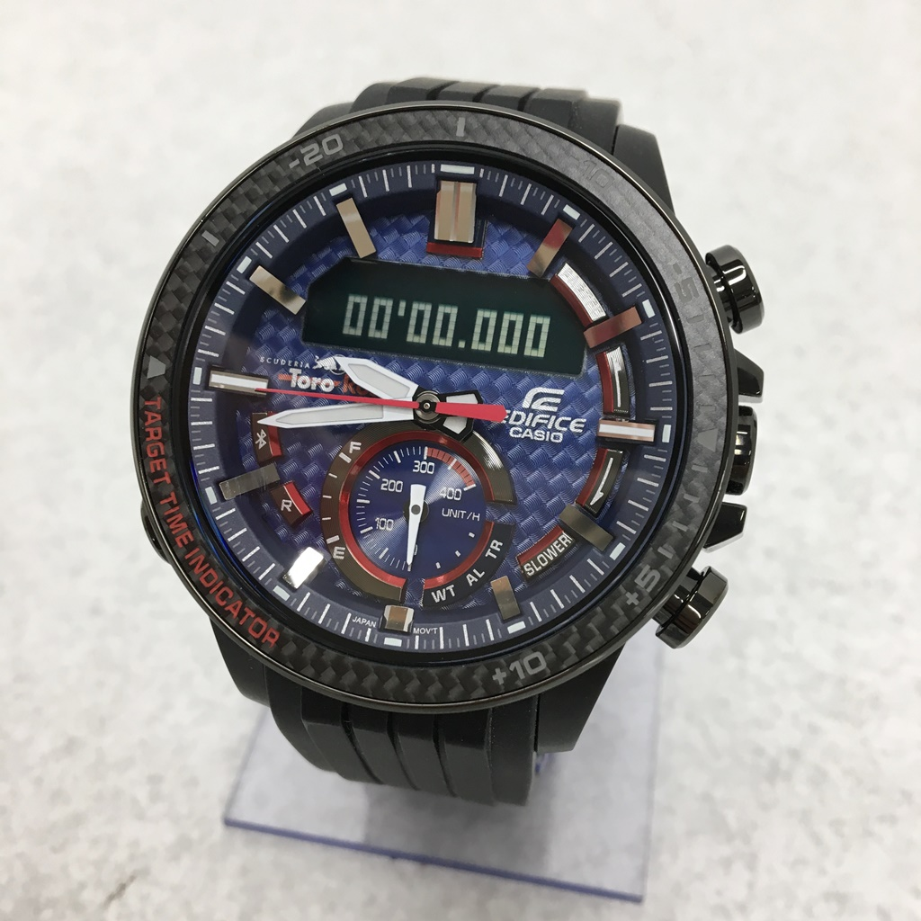CASIO EDIFICE ECB-800TR-2A TORO ROSSO LIMITED EDITION カラー:Black【中古】【141 時計】【鈴鹿 併売品】【141-190530-05NS】