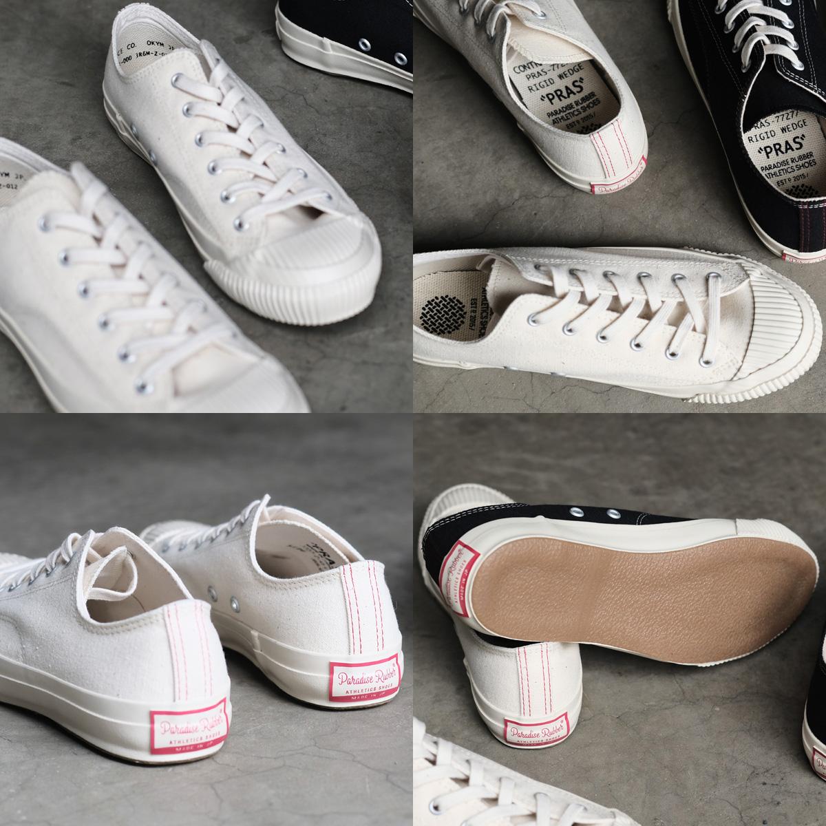 PRAS(加)儿岛帆布外壳盖子Low Cut运动鞋(Kinari/Off White)