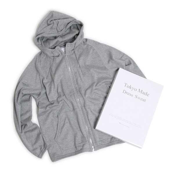 【新定番アイテム】Re made in tokyo japan (アールイーメイドイントウキョウジャパン) No05819A-CT [Tokyo Made Dress Sweat Parka] ドレススウェット フルジップ パーカー (Top Grey )