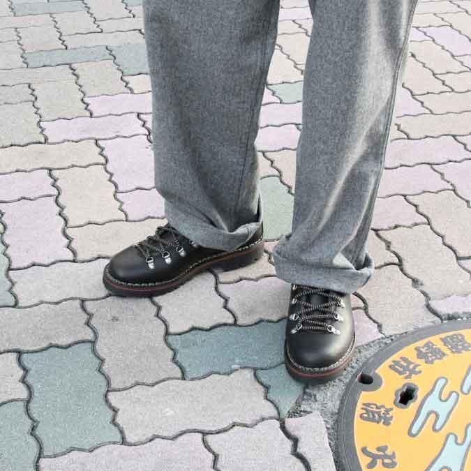 [18'AW新作-定番商品]VINCI (ヴィンチ) MOUNTAIN BOOTS / TREKKING BOOTS [19]マウンテンブーツ トレッキングブーツ (VACCHETA FIORE/NERO)BLACK