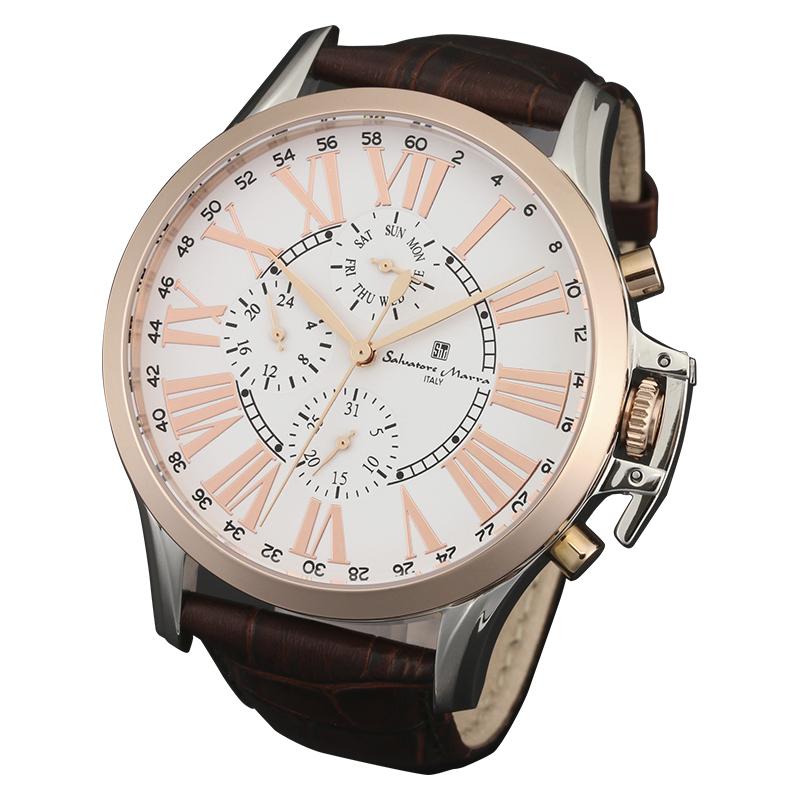 サルバトーレマーラ 腕時計 メンズウォッチ Salvatore Marra マルチファンクション ウォッチ SM14123-PGWH