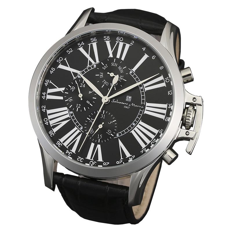 サルバトーレマーラ 腕時計 メンズウォッチ Salvatore Marra マルチファンクション ウォッチ SM14123-SSBK