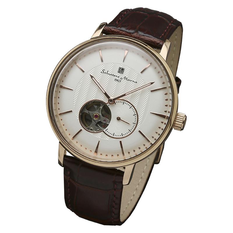 サルバトーレマーラ 腕時計 メンズウォッチ Salvatore Marra 機械式 自動巻き ウォッチ SM17114-PGWH