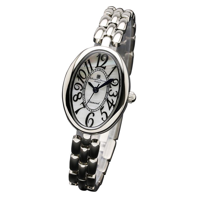 サルバトーレマーラ 腕時計 レディースウォッチ Salvatore Marra 1Pダイヤ 10年電池 ウォッチ SM17152-SSWH