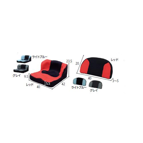 車椅子用車いす用クッション LAPS(ラップス)+LAP Backsセット 342055