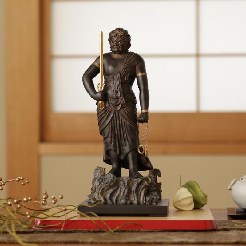 仏像 フィギュア 不動明王 ふどうみょうおう 高さ31cm インテリア 雑貨 置物 精巧 Isumu (イスム) スタンダード
