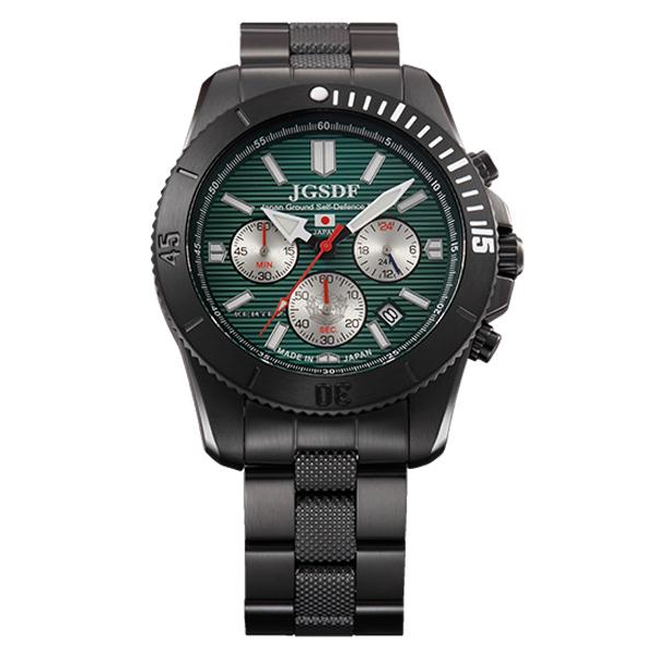 ケンテックス JSDF PRO 陸上自衛隊モデル メンズ腕時計 メンズウォッチ 日本製クロノグラフムーブメント 漆黒ボディ S690M-01