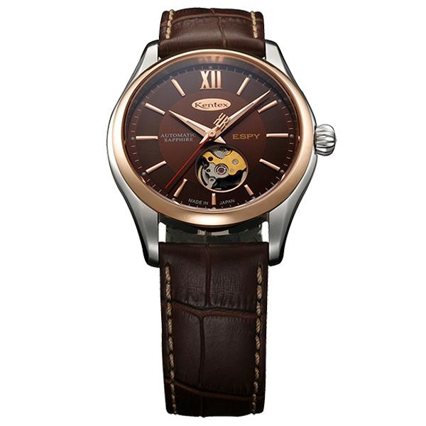 ケンテックス ESPY Openworked 自動巻き 毎時28800ビートの高精度薄型自動巻を採用 メンズ腕時計 メンズウォッチ E573M-05