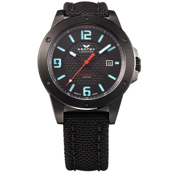 ケンテックス LANDMAN ADVENTURE 日本製三針デイト自動巻き メンズ腕時計 メンズウォッチ S763X-01