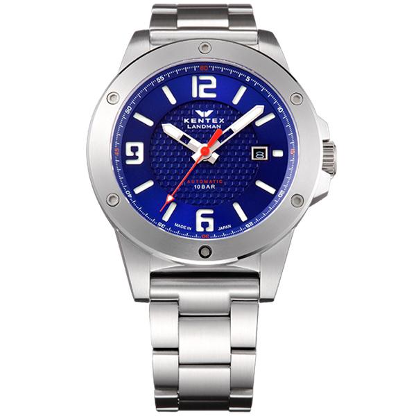 ケンテックス LANDMAN ADVENTURE 日本製三針デイト自動巻き メンズ腕時計 メンズウォッチ S763X-03