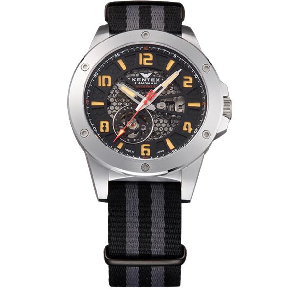 ケンテックス LANDMAN ADVENTURE 日本製三針自動巻き メンズ腕時計 メンズウォッチ S763X-06