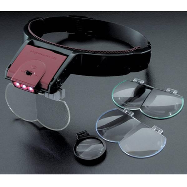 ヘッドルーペ メガビュープロ LED 軽量・高精度のプラスチックレンズを利用