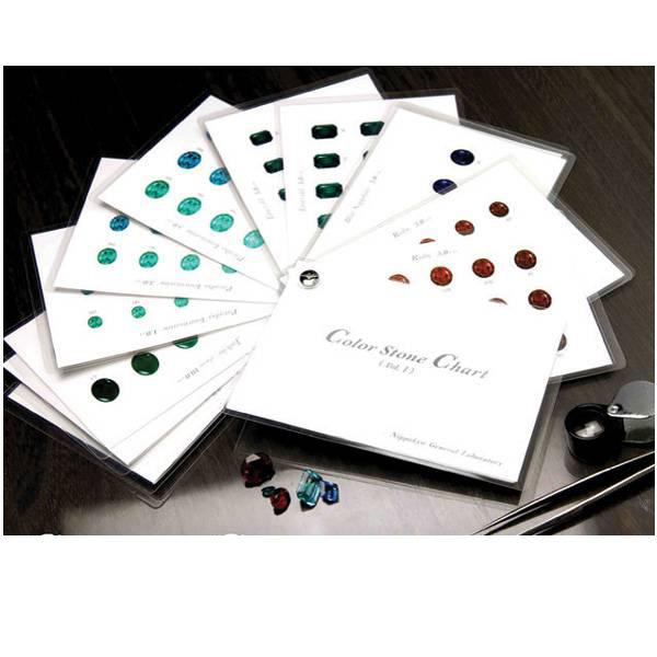 カラーストーンチャート カラーストーンの色をグレードに合わせ忠実に再現した色見本帳