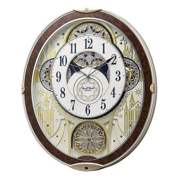 掛け時計 からくり 48曲入 連続秒針 電波時計 シチズン リズム時計 CITIZEN RHYTHM スモールワールド ノエル NS 8MN407RH23