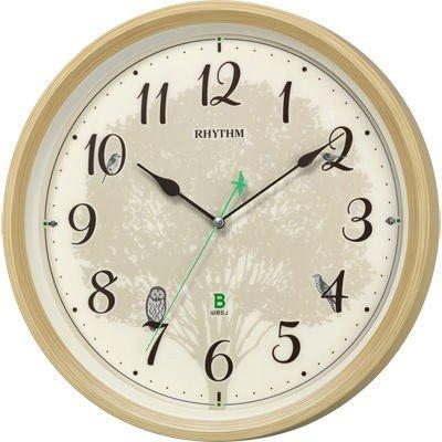 掛け時計 連続秒針 電波時計 シチズン リズム時計 CITIZEN RHYTHM 日本野鳥の会 四季の野鳥 報時掛時計409 8MN409SR06
