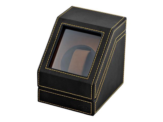 シングル ワインディングマシーン 1連 腕時計用ケース 合皮 SPI エスピーアイ ブラック SP-44004LBK
