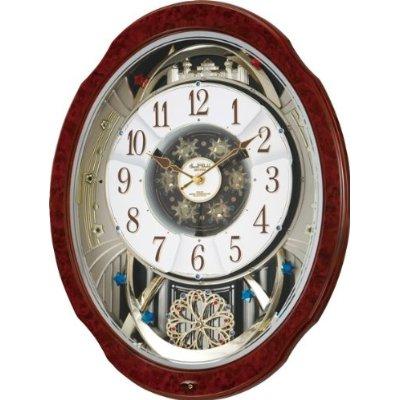 掛け時計 壁掛け時計 電波時計 シチズン スモールワールド ブルームDX からくり時計 4MN499RH23 Small World CITIZEN