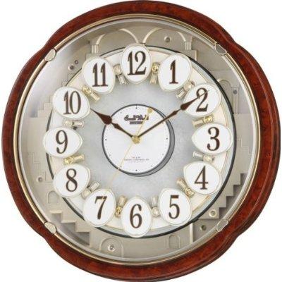 掛け時計 壁掛け時計 電波時計 シチズン スモールワールド コンベルS からくり時計 4MN480RH23 Small World CITIZEN