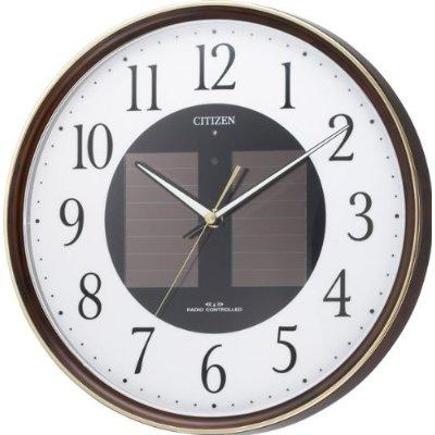 掛け時計 壁掛け時計 電波時計 シチズン エコライフ M807 ソーラー電源 エコマーク商品 4MY807-023 CITIZEN