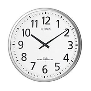 掛け時計 壁掛け時計 電波時計 シチズン スリーウェイブ M821 4MY821-019 シルバー CITIZEN