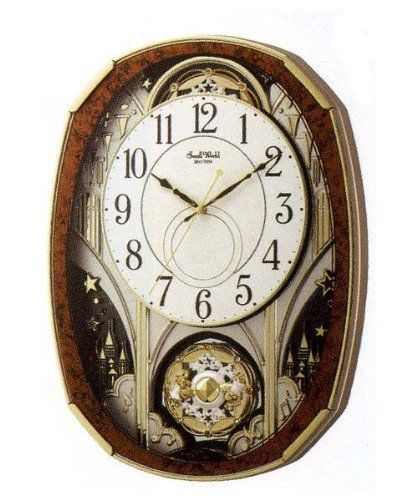 掛け時計 壁掛け時計 からくり 電波時計 シチズン リズム時計 スモールワールドノエルM アナログ からくり 30曲メロディ 4MN513RH23 CITIZEN