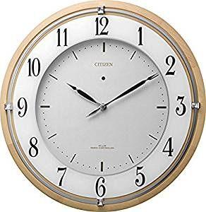 掛け時計 壁掛け時計 電波時計 シチズン リズム時計 サイレントソーラーM837 アナログ ソーラー補助電源 4MY837-006 CITIZEN