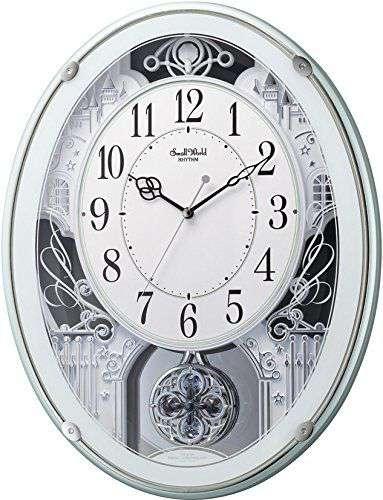 掛け時計 壁掛け時計 電波時計 シチズン リズム時計 スモールワールドプラウド 4MN523RH05 CITIZEN