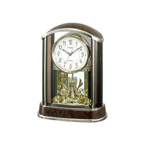 置き時計 置時計 電波時計 シチズン リズム時計 パルアモールR658N 4RY658-N23 CITIZEN