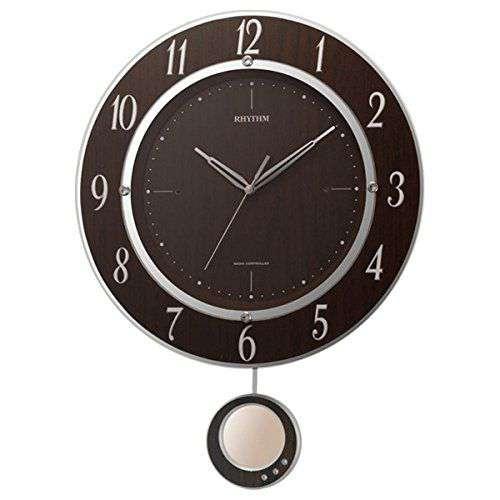 掛け時計 壁掛け時計 振り子時計 電波時計 シチズン リズム時計 トライメテオDX 8MX403SR23 CITIZEN